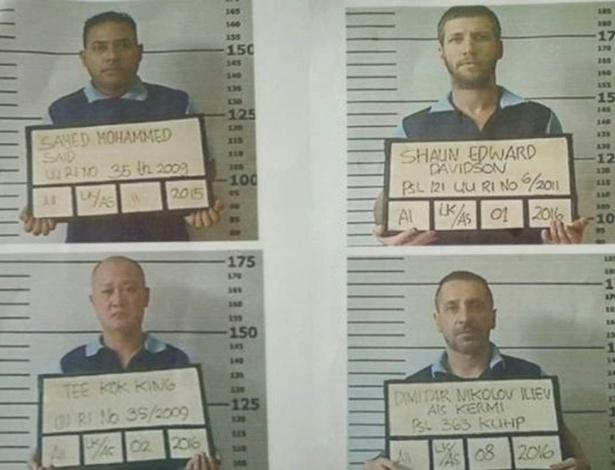 A polícia distribuiu fotos dos prisioneiros na ilha de Bali  - ABC