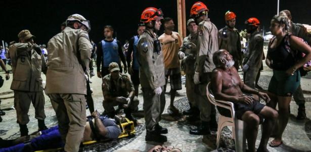 Vítimas do atropelamento no calçadão da praia de Copacabana, na zona sul carioca