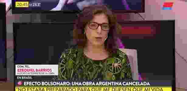 """Legenda: """"TV na Argentina fala em 'efeito Bolsonaro'"""" - Reprodução/Telefe - Reprodução/Telefe"""