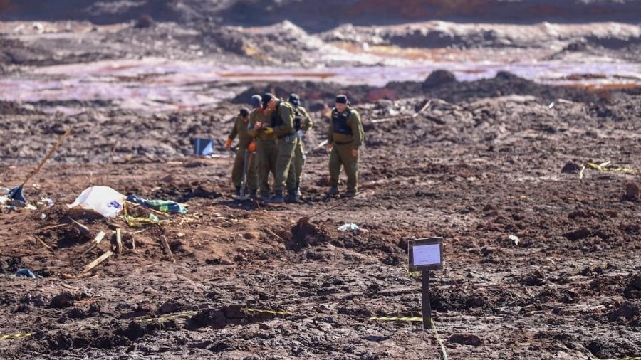 30.jan.2019 - Soldados israelenses auxiliam nos resgates em Brumadinho (MG)  - Divulgação/Forças de Defesa de Israel