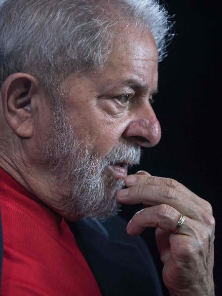 01.mar.2018 - O ex-presidente Luiz Inácio Lula da Silva (PT) - Nelson Almeida/AFP