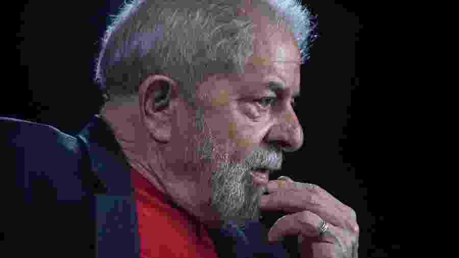 01.mar.2018 - O ex-presidente Lula durante entrevista à AFP em São Paulo  - Nelson Almeida/AFP