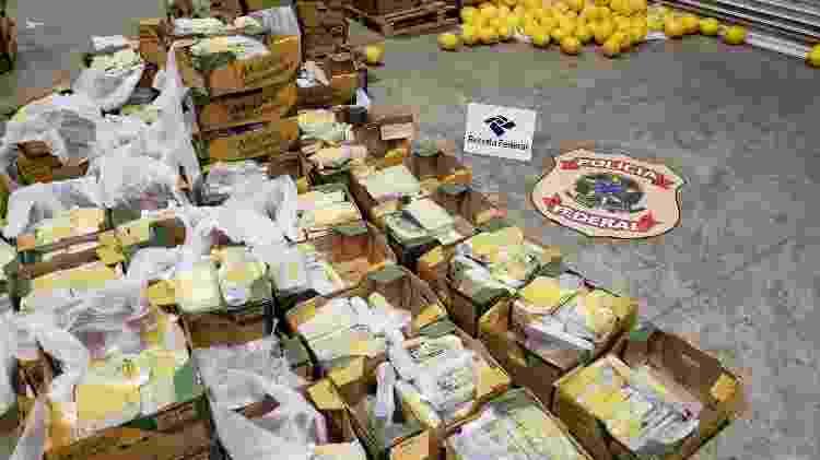 Fiscalização encontra container com carga de melão misturada com 2 toneladas de cocaína em porto de Natal - Polícia Federal/Divulgação
