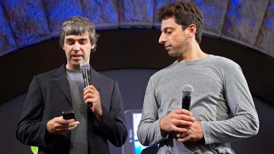 Larry Page (à esq.) e Sergey Brin, fundadores do Google, em foto de 2008 - Jacob Silberberg/Reuters