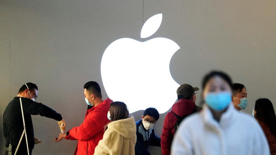 Apple tem sua produção prejudicada pelo surto de covid-19 na China  - Aly Song/Reuters