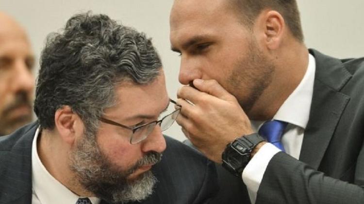 Ernesto Araújo e Eduardo Bolsonaro são 'fanáticos da mesma seita', diz Ricupero - MARCELO CAMARGO/AG. BRASIL - MARCELO CAMARGO/AG. BRASIL