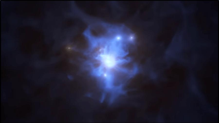 Animação de buraco negro supermassivo detectado pela ESO - ESO/L. Calçada