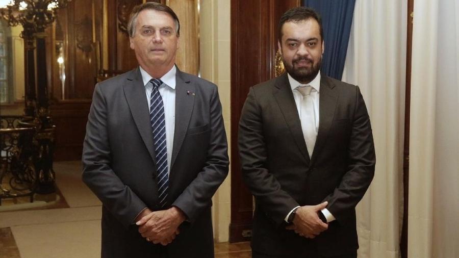 Bolsonaro e Cláudio Castro se reuniram hoje no Palácio das Laranjeiras, no Rio de Janeiro - Reprodução/Instagram
