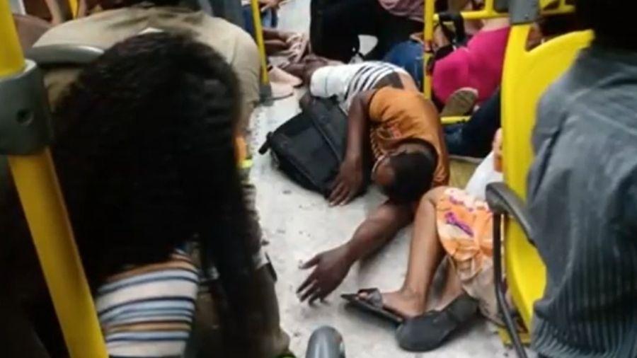 Um dos assaltantes morreu baleado, segundo a TV - Reprodução/TV Bahia