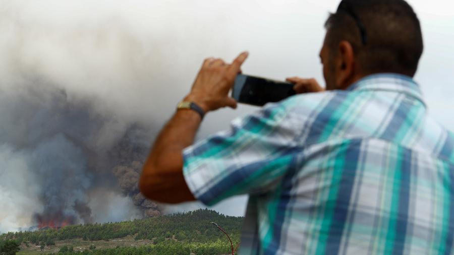 Vulcão de Cumbre Vieja em La Palma, nas Ilhas Canárias, entra em erupção - BORJA SUAREZ/REUTERS