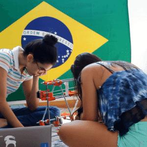 10.set.2015 - Estudantes da UnB criam impressora 3D capaz de construir casas de até 50m² - Arquivo Pessoal