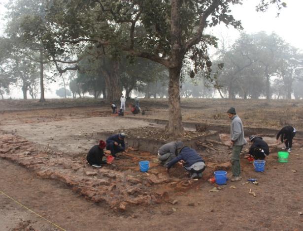 Foto sem data mostra o local de 2.500 anos onde acredita-se que o Buda tenha passado sua infância, em Tilaurakot, no Nepal