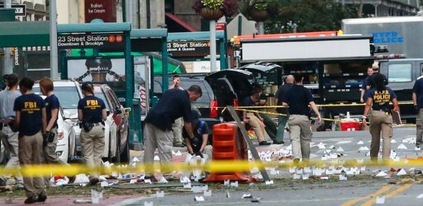 Local da explosão, na rua 23 perto da Sexta avenida