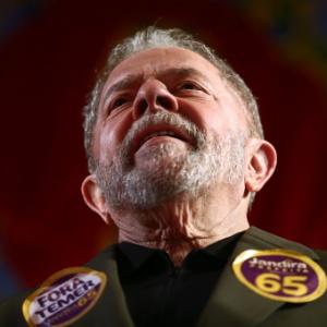 O ex-presidente Lula em comício da deputada federal Jandira Feghali (PCdoB), candidata a prefeita do Rio de Janeiro