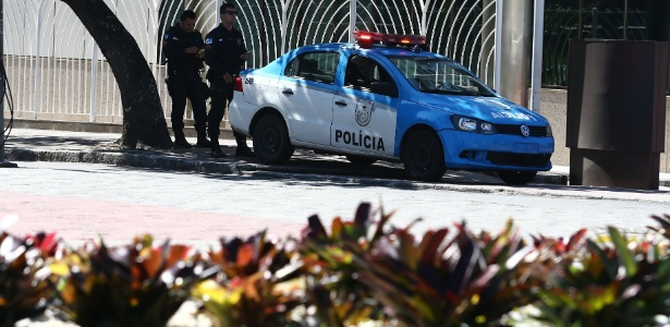 Policiamento foi reforçado na avenida Lúcio Costa, na Barra da Tijuca