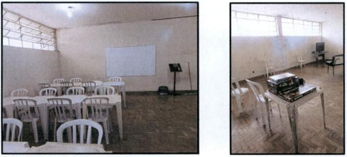 Esta é uma sala designada a estudos e ao lazer, com televisão e alguns jogos