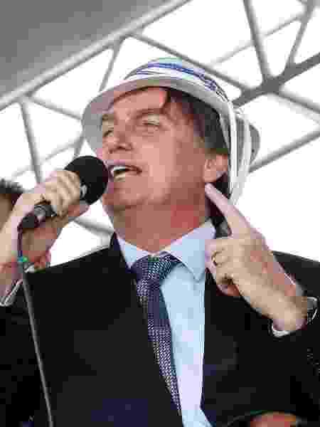23.jul.19 - Jair Bolsonaro discursa em Vitória da Conquista (BA) - Alan Santos/PR