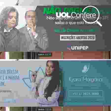 O outdoor falso e a propaganda no Paraná - Arte/UOL