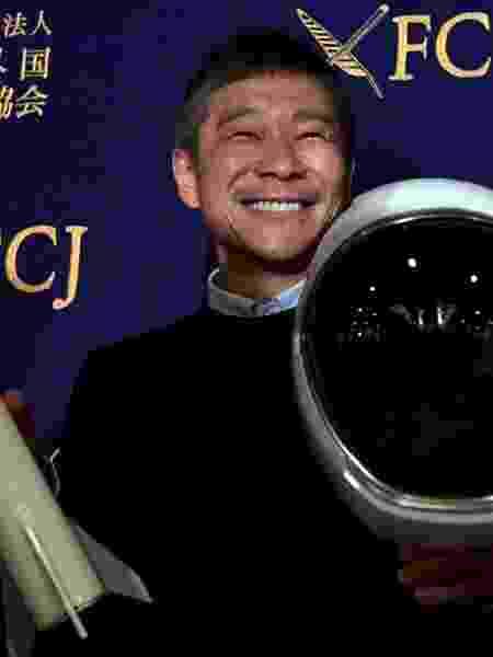 09.out.2018 - O milionário japonês Yusaku Maezawa deve ser o primeiro passageiro privado do voo ao redor da Lua que será realizado em 2023 pela SpaceX - Toshifumi Kitamura/AFP