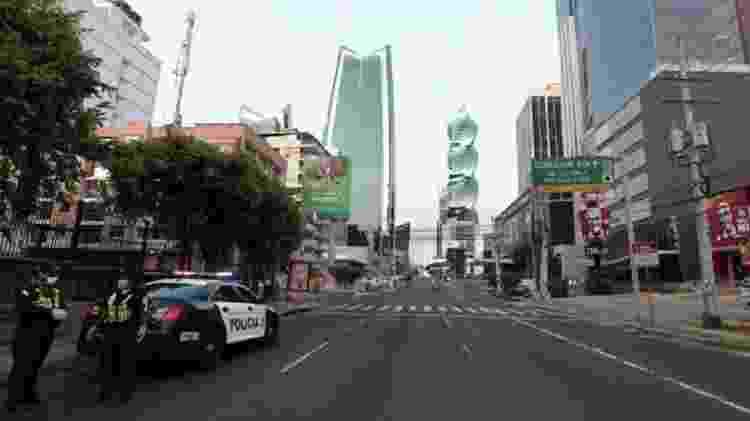 As ruas da Cidade do Panamá estão praticamente desertas como as de muitos outros países em meio à crise do coronavírus - Reuters - Reuters