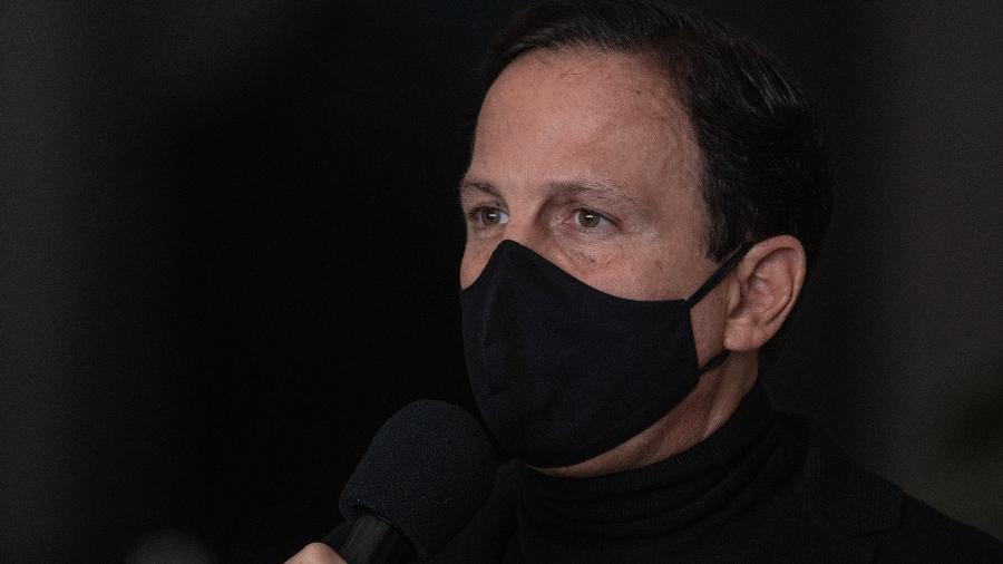 Governador de São Paulo, João Doria, fala sobre o cancelamento do contrato de respiradores - Ettore Chiereguini/AGIF