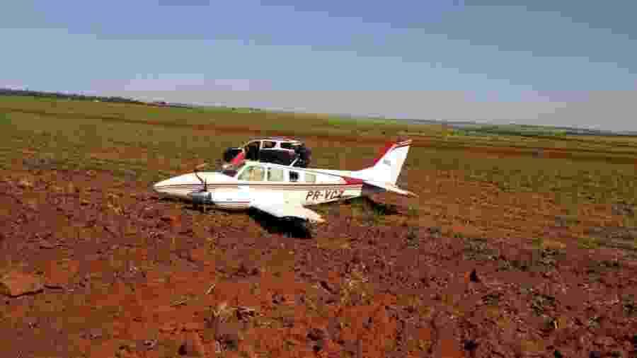 Aeronave interceptada pela FAB fez pouso forçado em Ivinhema (MS); 700 kg de cocaína foram apreendidos - Divulgação/FAB