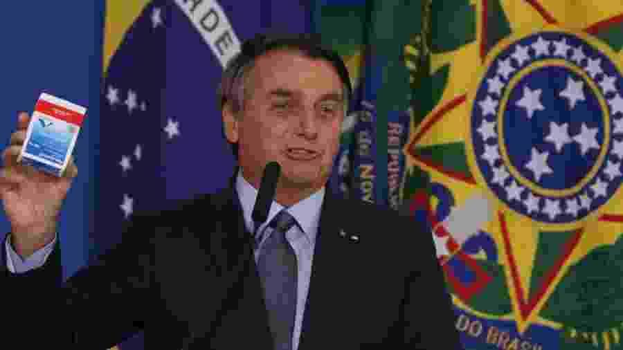 Jair Bolsonaro sempre defendeu o uso da cloroquina, apesar da falta de comprovação científica - Frederico Brasil/Futura Press/Estadão Conteúdo