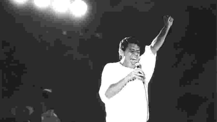 Chico Buarque na campanha de Lula em 1989 - Claudio Freitas/Folhapress