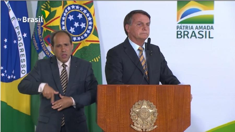 O presidente Jair Bolsonaro - Reprodução/TV Brasil