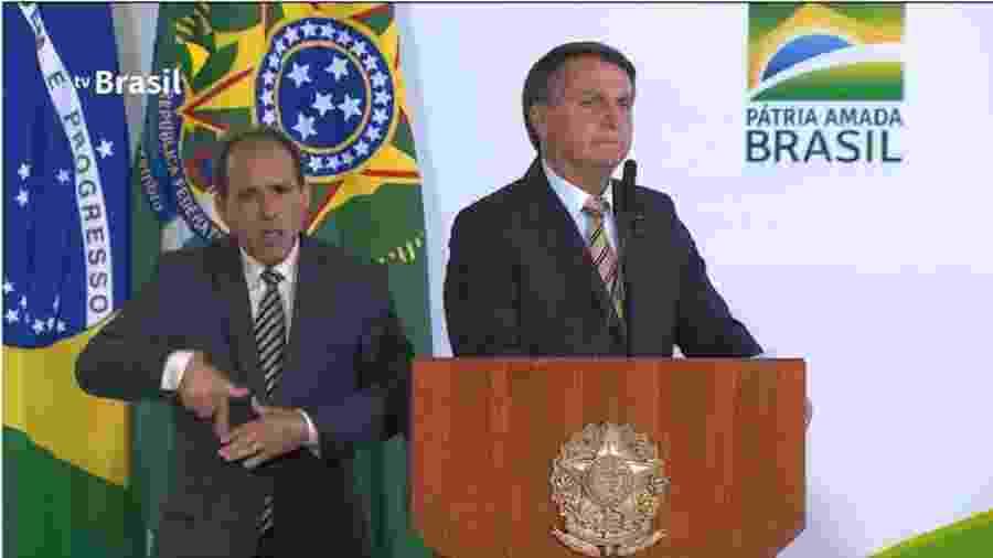 Jair Bolsonaro no momento em que chamou brasileiros de maricas - Reprodução/TV Brasil