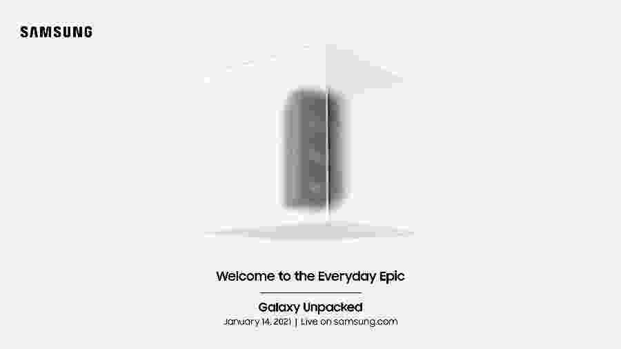 Convite para evento da Samsung: empresa deve lançar o novo Galaxy S21 - Divulgação