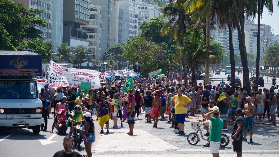 Aglomeração no RJ em março de 2021; Brasil volta a ver a curva de casos da doença subir e está em um patamar altíssimo nos números  - DANIEL RESENDE/ESTADÃO CONTEÚDO