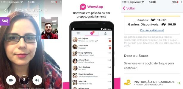 Aplicativo de mensagens Wowapp