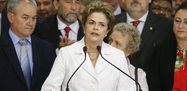 A presidente afastada Dilma Rousseff faz pronunciamento no Palácio do Planalto antes de deixar o cargo
