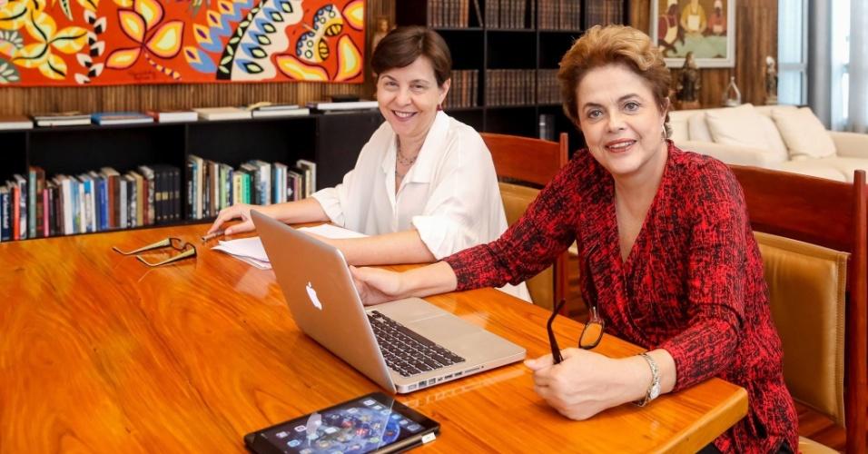 A ex-ministra Tereza Campello e a presidente afastada Dilma Rousseff
