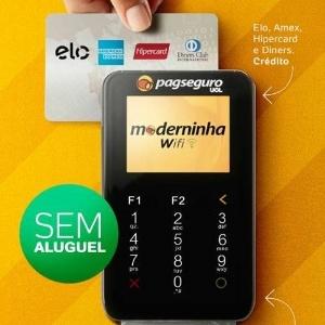 f249d7645 PagSeguro lança nova Moderninha com wifi e mais cartões aceitos ...