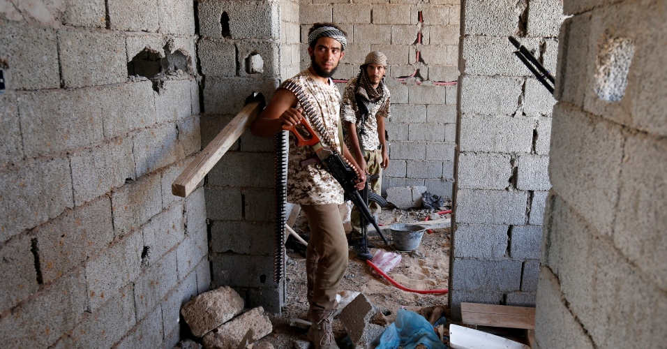 29.jul.2016 - A brigada de Misrata, uma cidade portuária no noroeste da Líbia, está à frente do combate contra o Estado Islâmico na região