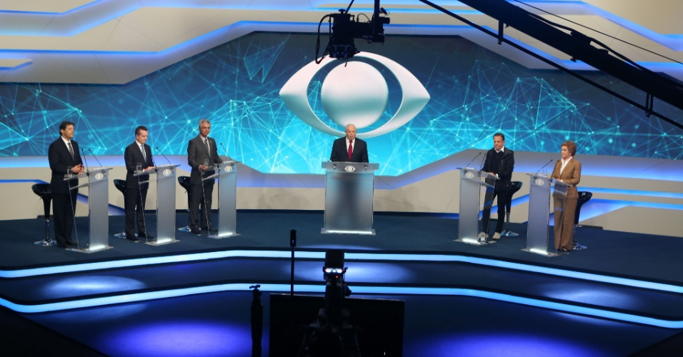 22.ago.2016 - Candidatos à Prefeitura de São Paulo participam do primeiro debate promovido pela TV Bandeirantes