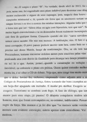 Imagens da carta deixada por Guilherme Silva foram divulgadas pelo MP-RN
