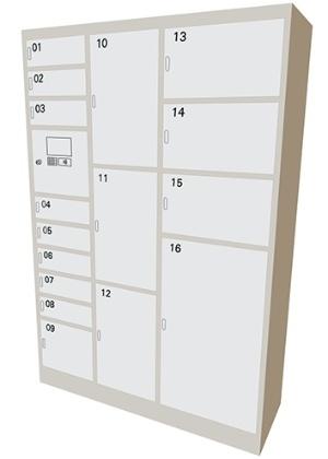 Modelo de armário eletrônico dos Correios