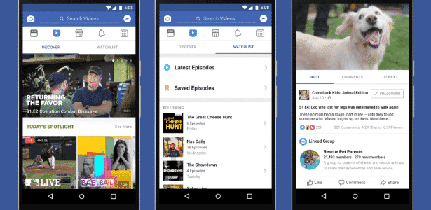 Facebook faz nova tentativa para buscar telespectadores com o Watch - Divulgação