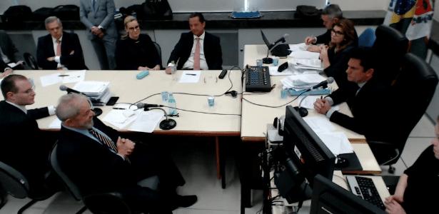 Lula e Moro já estiveram frente a frente em duas oportunidades - Divulgação - 13.set.2017/Justiça Federal