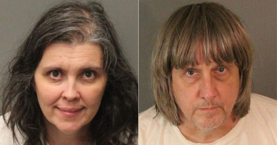 Louise Anna Turpin, de 49 anos, e David Allen Turpin, de 57 anos