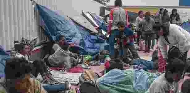 Caravana de imigrantes acampa na fronteira do México com os EUA, em Tijuana - Meghan Dhaliwal/The New York Times - Meghan Dhaliwal/The New York Times
