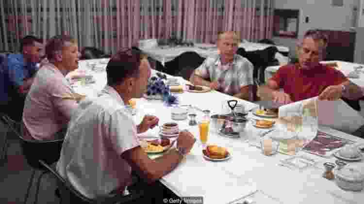 A tripulação da Apollo 11 comeu uma refeição com 'baixo teor de resíduos' antes do lançamento - Getty Images  - Getty Images