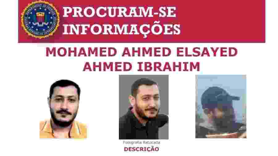Terrorista egípcio Mohamed Ahmed Elsayed Ahmed Ibrahim é procurado pelo FBI no Brasil - Divulgação/FBI