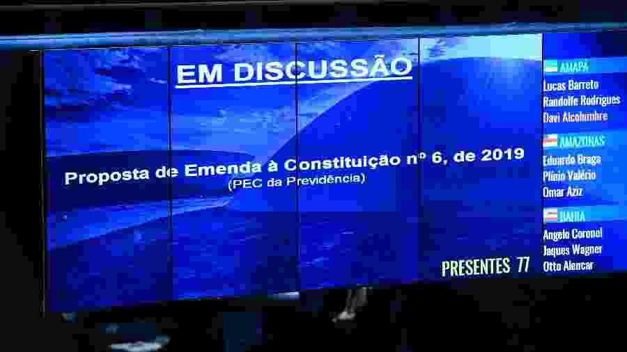 Plenário do Senado Federal durante sessão deliberativa ordinária para votar a reforma da Previdência - Marcos Oliveira/Agência Senado