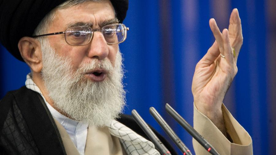 Líder supremo do Irã, aiatolá Ali Khamenei, prometeu se vingar dos Estados Unidos - Morteza Nikoubazl