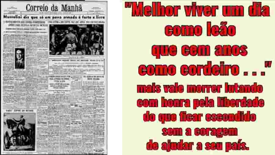 Frases de Bolsonaro que repetem lema do ditador fascista italiano. Referências intelectuais do governo estão claras - Reprodução