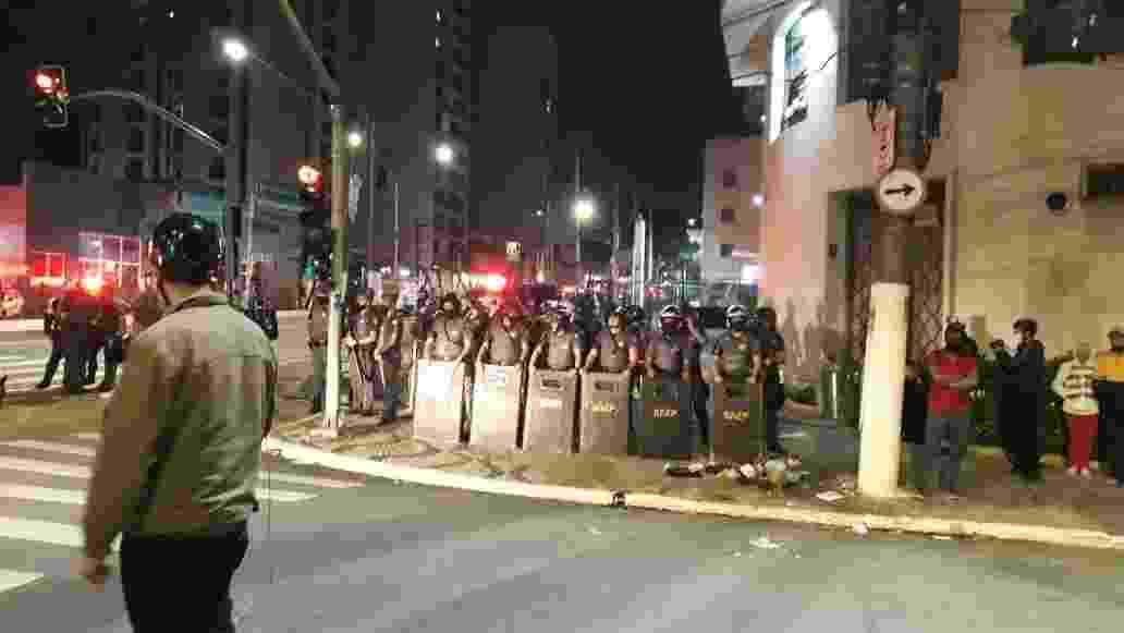 Ação policial no centro de São Paulo - Marcelo Oliveira/ UOL